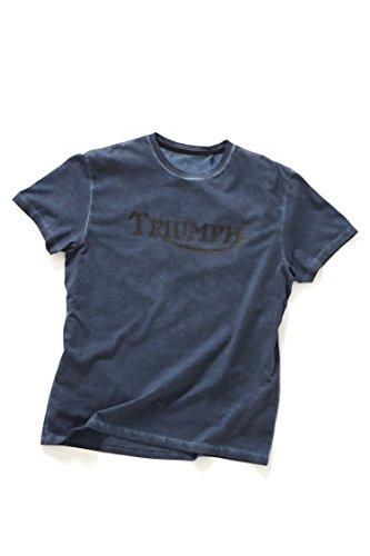 Originele Triumph Motorcycles Vintage Logo Blauw T-Shirt