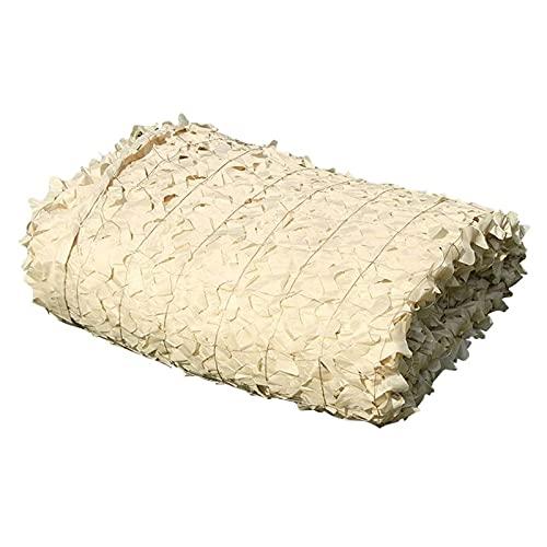 CAMOUFLAGE NETTING, CAMO BEIGE Nets Plantas Genible Sun Shade Speade, para la caza del bosque militar Hobres de caza Ocultar...