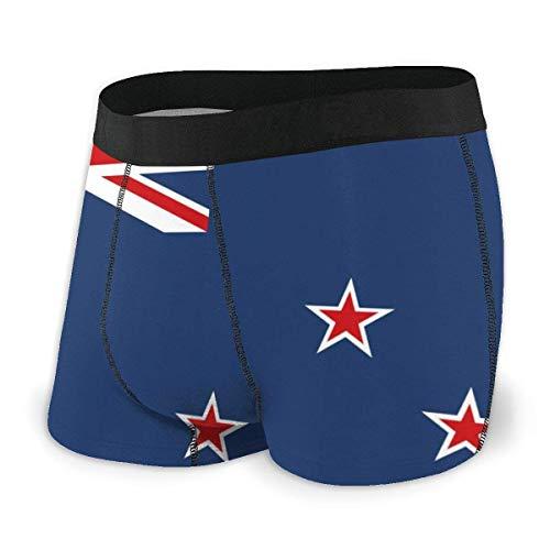 Lawenp Herren Boxer Brief Neuseeland nach Australien Boxershorts Ultraweiche Unterwäsche für Herren