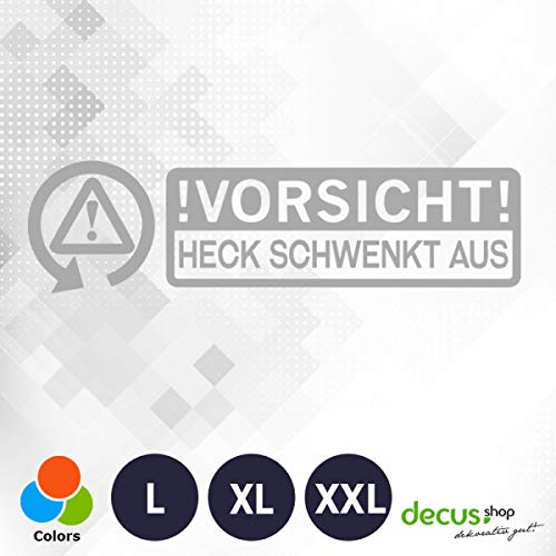 Let op: Achterkant zwenkt uit. 0212 // Sticker OEM JDM Style Sticker XXL (ca. 60x18 cm) zilver