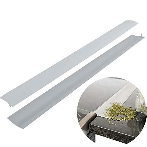 Evelots Stove Counter Gap Filler-Spill/Crump Guard-Heat Resistant-21 Inch-Set/2