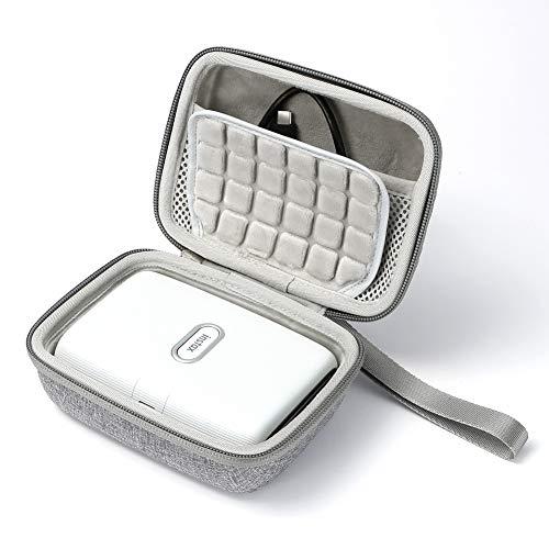 Hard Travel Case für Fujifilm Instax Mini Link Smartphone-Drucker, Aufbewahrungstasche - Grau (graues Futter)
