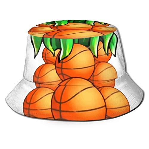 GAHAHA Cubo Sombreros Para Hombres Lindo Balones De Baloncesto Piña Pescador Gorra De Senderismo Portátil Sol Protección UV Unisex Plegable Otoño Al Aire Libre Sombrero De Pesca