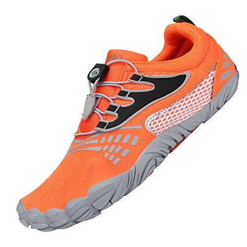 Zapatillas de Trail Running Minimalistas Hombre Barefoot Respirable Secado rápido Hombres Zapatos de Agua Deportes Acuáticos Escarpines Naranja 43
