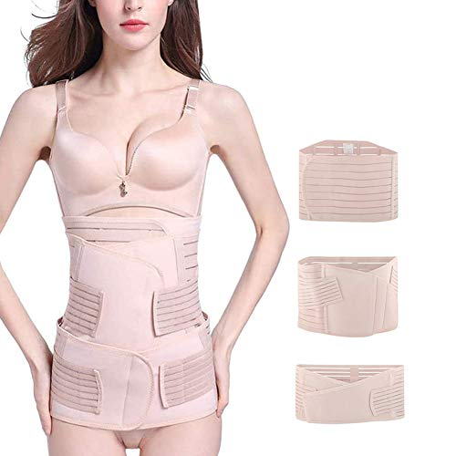 Postpartum Belt 3 in 1 Girdle Post Belly Belt After Birth Belly Band Postpartum Support C-Section Recovery Belt Women Waist Pelvis