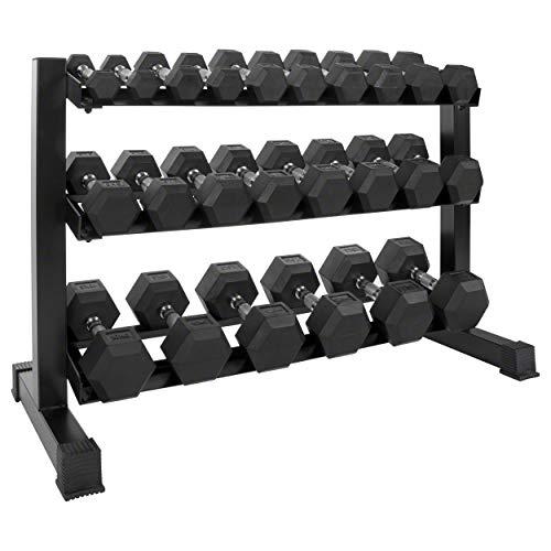 Sport-Tec Kompakthantel-Ständer-Set mit 12 Paar Hex Hanteln, 1-15 kg, LxBxH 119x50x76 cm