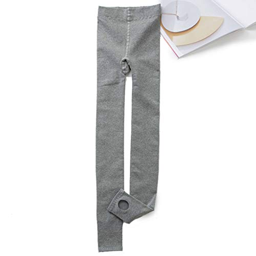 Collants Pantalons Chauds - MJ002 Leggings Women Wear Cotton Stepping Feet Winter Plus Velvet Wild Bottoming Socks (Color : Light gray, Size : One)