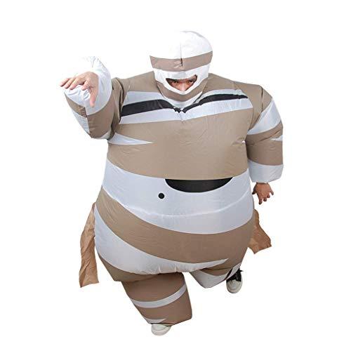 Inflable de vestuario, la forma de la momia, traje divertido de s perfecto for el carnaval, la despedida de soltero o Halloween, juguetes al aire libre Jugando Entretenimiento Suministros Baibao