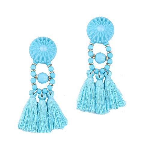 Skyeye Pendientes de Flecos de Lana de Gema de Cristal Pendientes de Mujer Pendientes Pendientes Hipoalergénicos cumpleaños Pendientes de joyería