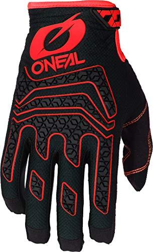 O'NEAL | Fahrrad- & Motocross-Handschuhe | MX MTB DH FR Downhill Freeride | Langlebige, Flexible Materialien, Silikonprint für Grip | Sniper Elite Glove | Erwachsene | Schwarz Rot | Größe L