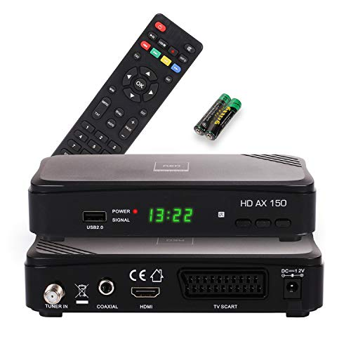 Opticum AX HD 150 HDTV Satellitenreceiver (PVR ready, Full HD 1080p, HDMI, USB, Scart, 12 Volt, ideal auch für Camping)