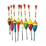 10 unids Pesca Flotadores Set Boy Bobber Fishing Light Stick Floats Fluctuate Mezcla Tamaño Color Flotador Boya para Accesorios de Pesca