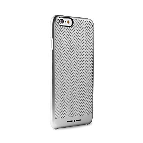 Independent IIIPC647CHEVRSIL Italia-Cover per Apple iPhone 6/6S, Effetto puntone, Colore: Argento