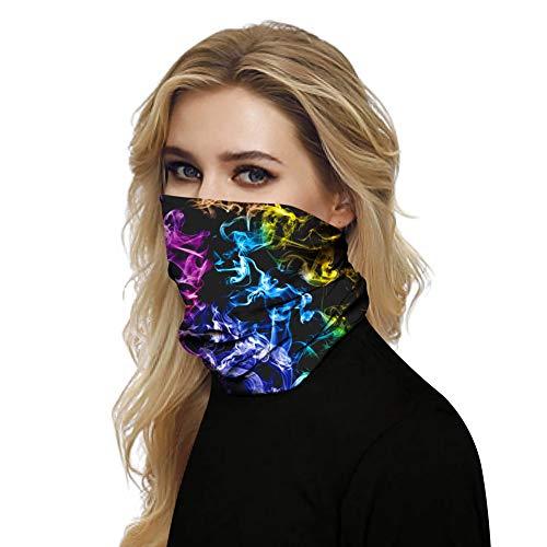 CHIYEEE 3D Cool Unisex Nahtlose Magie Bandana Sonnenstaub Windschutz Hals Gamasche Schal Kopfbedeckung Sport Kopfwickel Sturmhaube für Frauen Männer