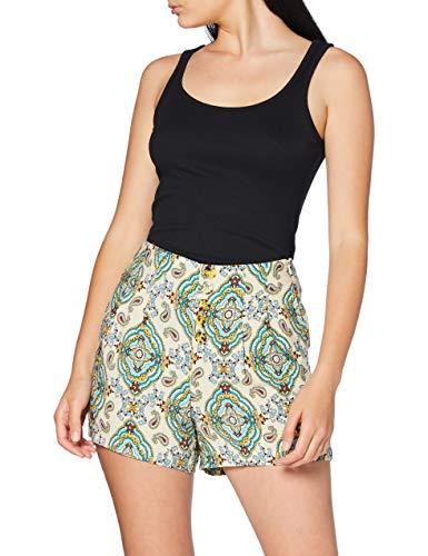 Springfield 5.Pc.Bermuda Print-C/95 Pantalones, Verde (Dark_Khaki 95), 36 (Tamaño del Fabricante: 36) para Mujer