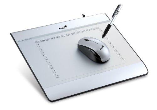 Genius MousePen i608 USB Grafiktablett 150x200mm 6x8 Aufloesung: 2540 LPI kabelloser Stift mit 1024 Sensibilitaetsstufe