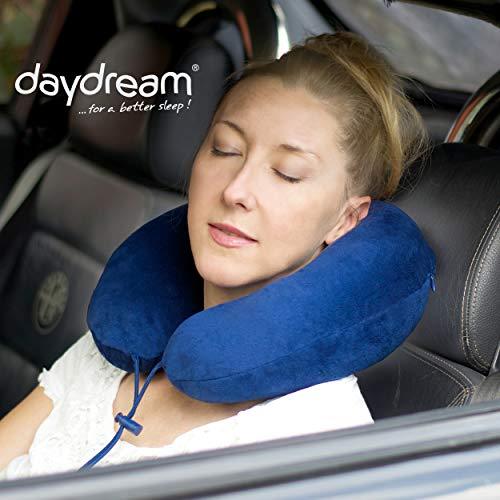 daydream PREMIUM Reise-Nackenkissen mit Memory Foam, (N-5400),Nackenhörnchen, Reisekissen, Nackenstützkissen