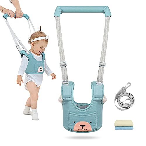 Baby Geschirr zum Laufen Verstellbar Baby Walker Kleinkind Zügel Gehhilfe Baby Gehhilfe 3-in-1 Handgehaltenes Kinder-Sicherheitsgeschirr für 8-48 Monate