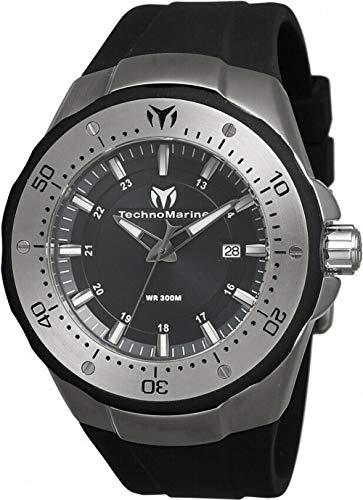 Technomarine 'Manta' Reloj Casual automático de Acero Inoxidable y Silicona para Hombre