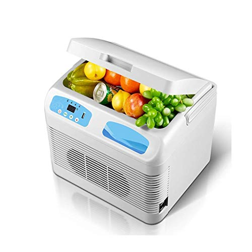 Mini Car koelkast, Car Family goederen for tweeërlei gebruik Portable Warme en koude insuline koelbox Dual-core Refrigeration LOLDF1