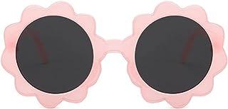 XINGTAO - XINGTAO Gafas de Sol para niños 1 unid Redondo Forma de Flores Niños Gafas de Sol Niño Sol Vintage Bebé Niños UV400 Gafas de Sol Deportivas para niñas Bebé (Frame Color : Pink B)