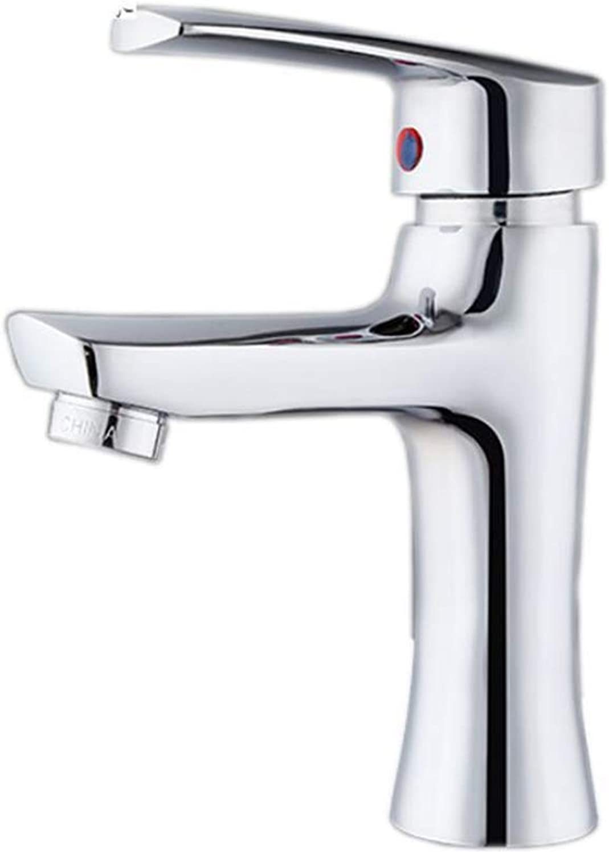 Basin Mixer Tap Bath Fixtures Wash Basinsinkkitchen Jade Single Hole Faucet Cold and Hot Basin Faucet, Fine Copper Mixed Water Tap