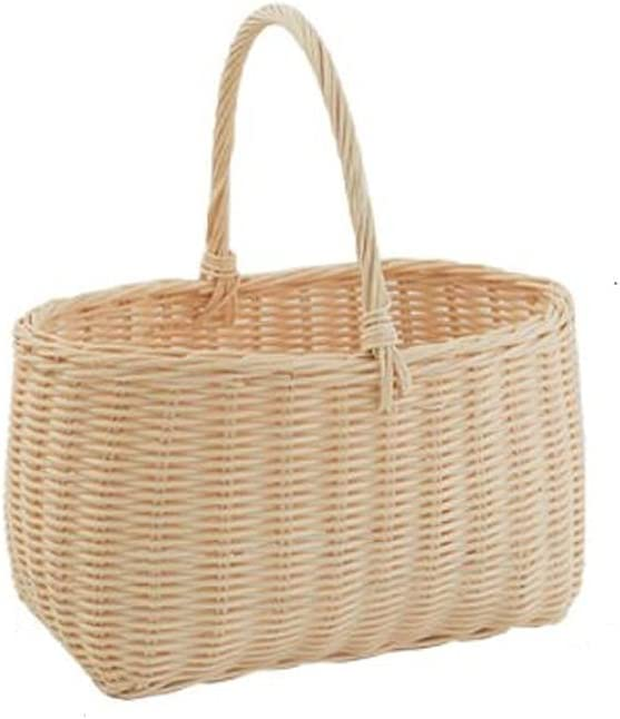 Outdoor Picnic Basket Hand Carry San Francisco Mall Rattan Max 48% OFF Wove Hamper White