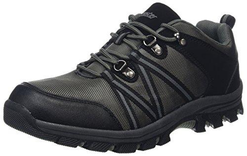 Gregster Christine, Chaussures de Randonnée Basses Femme, Noir (Schwarz/Grau), 39 EU