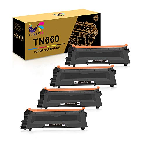 ONLYU Compatible Toner Cartridge Replacement for Brother TN660 TN630 DCP-2560DN MFC-L2707DW MFC-L2700DW HL-L2380DW DCP-L2540DW HL2340DW MFC-L2740DW MFC-L2685DW HL-L2300D Printer (Black, 4-Pack) -  ONLYU-4Pack-TN660