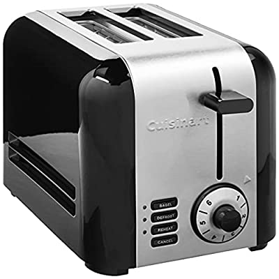 Cuisinart CPT-320P1 2-Slice Brushed Hybrid Toaster, Stainless Steel