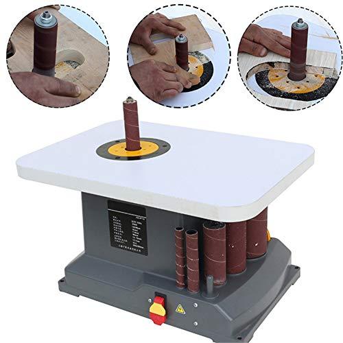 WXH Oszillierender Spindelschleifer, polierte Sand-Säulenwellen-Sandmaschine, 350 W Hochleistung, 1450 U/min Geschwindigkeit, Werkbank für Platten mit hoher Dichte