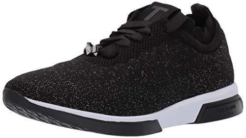 Ted Baker Women's Lyara Sneaker, Black, 9 Regular US