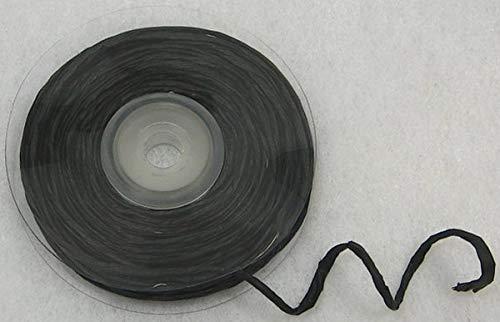 Raffia avec fil metalique noir
