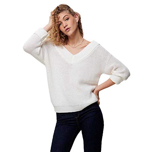 Only 15192289 suéter, Cloud Dancer, 36 (Talla del Fabricante: X-Small) para Mujer