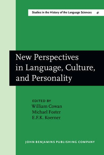 New Perspectives in Language, Culture, and Personality (Studies in the History of the Language Sciences)