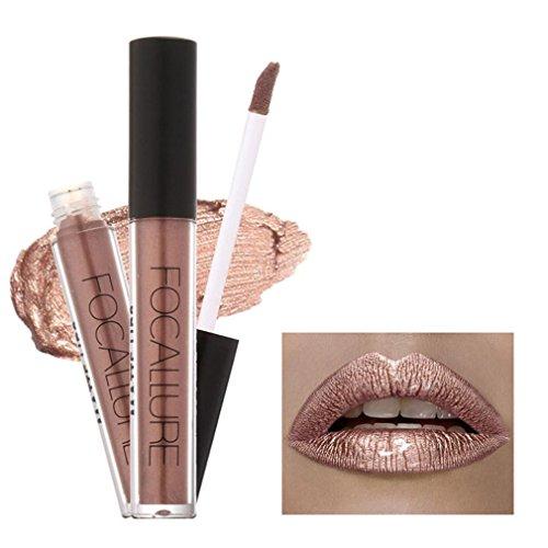 Lippenstifte, OVERMAL FOCALLURE Lippenstift Kosmetik Frauen Lippen Matte Metallisch Lip Gloss Beauty Lipstick (C)
