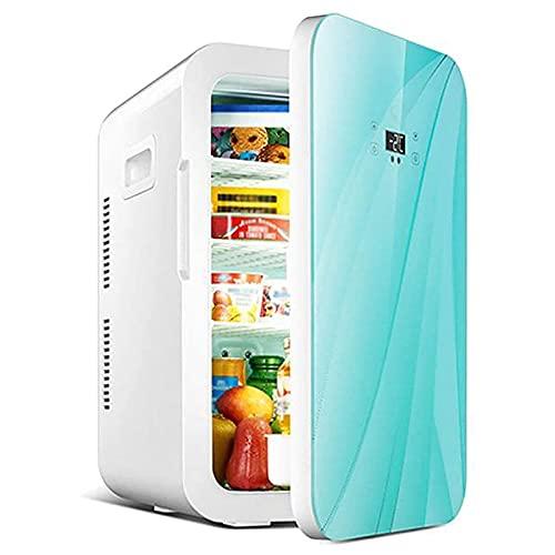 Mini Refrigerador 20L Una Puerta Portátil Coche Nevera Pequeño Frigorífico Mini Bar Neveras Silencioso Congelador para Dormitorio Oficina Apartamento Coche Casa Hoteles Viajes