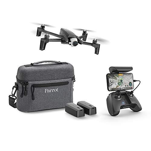 Parrot Anafi Drohne Extended Kit, 180 Grad schwenkbar 4K HDR Kamera Schwarz, insgesamt 3 smarte Akkus