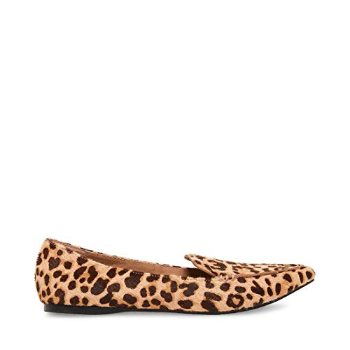 Price comparison product image Steve Madden Women's FEATHERL Loafer Flat,  Leopard,  7.5 M US