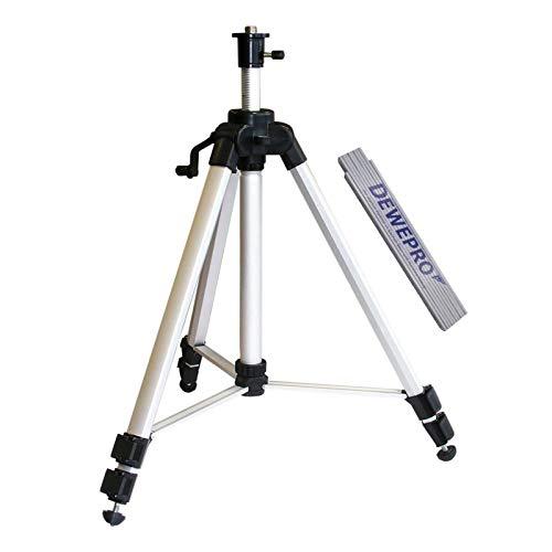 NEDO® leichtes Kurbelstativ 0,53m - 1,50m für Punkt-, Linien- und leichte Rotationslaser inkl. einem DEWEPRO Zollstock 2m