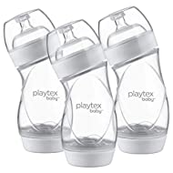 Playtex Baby VentAire Anti-Colic Feeding Baby Bottles, 9 Ounce, Pack Of 3 Baby Bottles