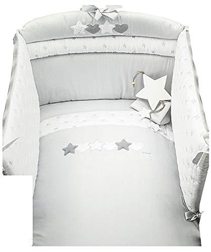 Dilibest by Picci Mod. 15 Matisse Parure de lit 3 pièces avec ciel de lit et tour de lit Gris