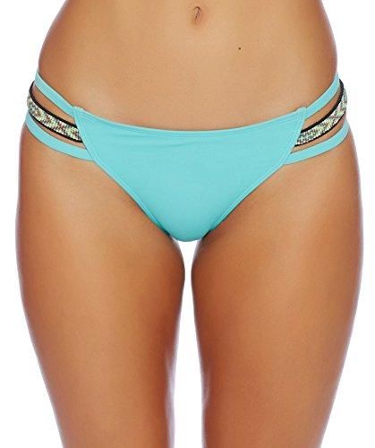Reef Damen Cove Solids Side Strap Pant Bikini Bottom Bikinihose, Türkis (Turquoise Tur), 40 (Herstellergröße: M)