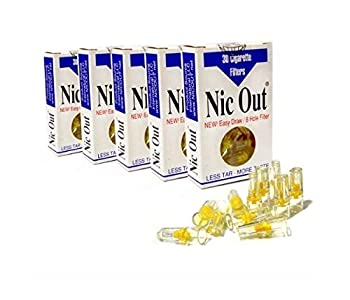 NIC-OUT Cigarette Filters 5 Packs  150 Filters  Smoking Free Tar & Nicotine Disposable Nicout Holders for Smokers DON T QUIT SMOKING Nicfree