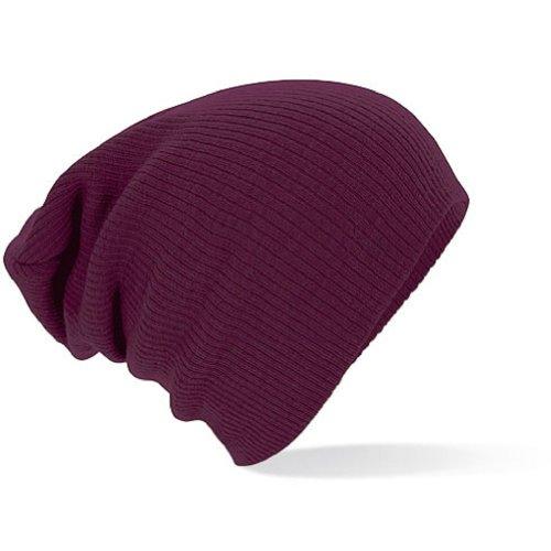 Beechfield - Bonnet - Homme Rouge Bordeaux