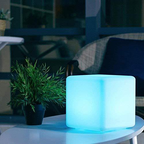 Wlnnes LED del Taburete del Cubo Lámpara de pie 16 RGB luz del Humor a Prueba de Agua IP65 al Aire Libre de la lámpara Recargable en Color cambiante Ligera del Humor LED del Taburete del Cubo W/T Co