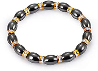 1Pcs Weight Loss Stone Magnetic Therapy Slimming Bracelets Health Care Magnetic Hematite Stretch Beaded Bracelets for Men ...