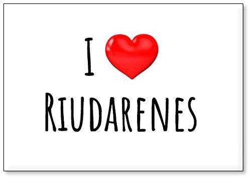 Mundus Souvenirs - Amo Riudarenes, Imán para Nevera (diseño 2)