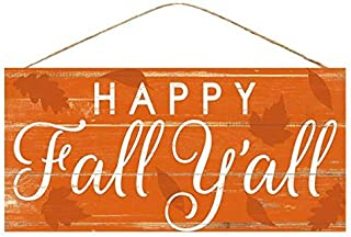 Happy Fall Y'all Welcome Sign - 12.5 x 6