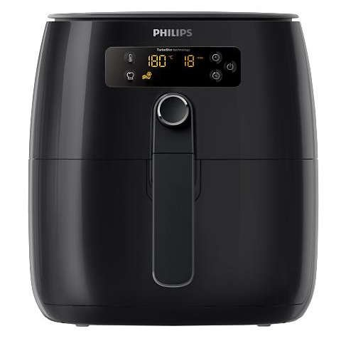Philips HD9641/96 Avance Digital Turbostar Airfryer (1.8lb/2.75qt), Black Digital (Renewed)